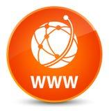 Van WWW (globaal netwerkpictogram) de elegante oranje ronde knoop Royalty-vrije Stock Foto