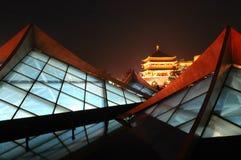 Van Xian (Xi'an) de nachtscènes Royalty-vrije Stock Afbeelding