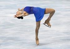 Van yu-Na KIM (KOR) het vrije schaatsen Stock Foto