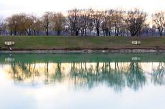 Van Zagreb Jarun (Jarunsko Jezero) het Meer in Kroatië Stock Afbeeldingen