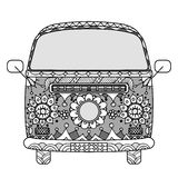Van in zentangle style Royalty Free Stock Image