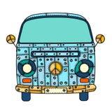 Van in zentangle style Stock Images