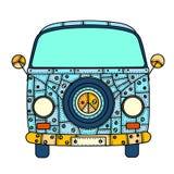 Van in zentangle style Royalty Free Stock Images