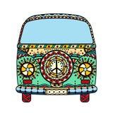 Van in zentangle style Royalty Free Stock Photos