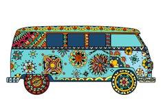 Van in zentangle style Stock Photos