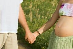 Van zeven maanden van zwangerschap Royalty-vrije Stock Afbeelding