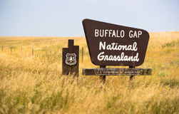 Van Zuid- buffelsgap Forest Grassland Roadside Monument Sign Dakota stock fotografie