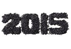2015 van zwarte kaviaar Stock Foto's