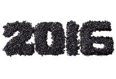 2016 van zwarte kaviaar Royalty-vrije Stock Foto