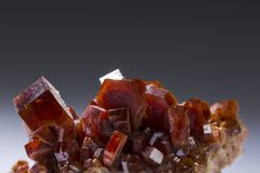 Vanadinite mineral stone specimens rock geology minerals.  Royalty Free Stock Images