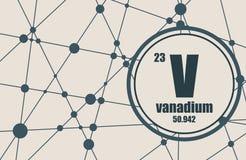 Vanadium chemical element. Stock Photography