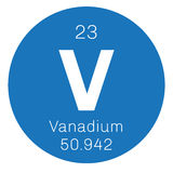 Vanadium chemical element Royalty Free Stock Photos