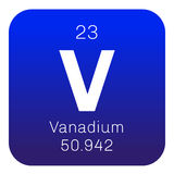 Vanadium chemical element Royalty Free Stock Photography