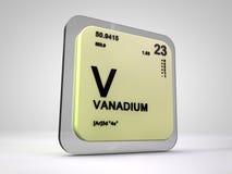 Vanadium - V - chemical element periodic table Royalty Free Stock Photo