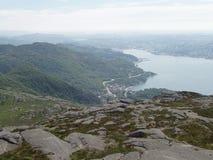 Vanaf bovenkant van de berg Royalty-vrije Stock Foto's