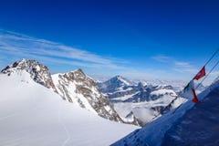 Vanaf de bovenkant van Monte Rosa Stock Foto