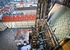 Vanaf de bovenkant van St Vitus Cathedral, Praag Royalty-vrije Stock Afbeeldingen