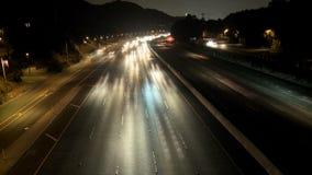 Vanaf La-nachtverkeer stock footage