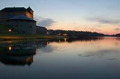 Vanajavesi sjö i Hameenlinna finland Fotografering för Bildbyråer