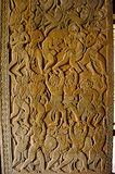 Vanar sena, σκηνή Ramayana το angkor Καμπότζη συγκεντρώνε Μεγαλύτερο θρησκευτικό μνημείο στον κόσμο 162 6 εκτάρια Στοκ εικόνες με δικαίωμα ελεύθερης χρήσης