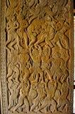 Vanar sena, scène van Ramayana Angkor Wat, Siem oogst, Kambodja Grootste godsdienstig monument in wereld 162 6 hectaren royalty-vrije stock afbeeldingen