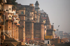 Vanarasi, Città Santa dell'India Fotografia Stock