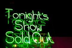 Vanavond toon Royalty-vrije Stock Foto