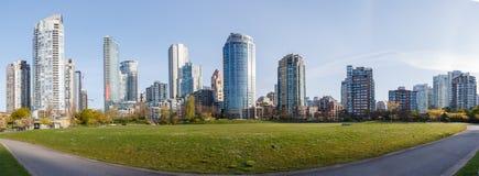 Vancôver, Canadá - cerca de 2018: Panorama de Yaleown Imagem de Stock Royalty Free