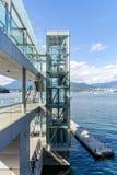Vancôver destaca da cidade e do porto imagens de stock royalty free