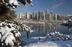 Vancôver no inverno fotografia de stock royalty free