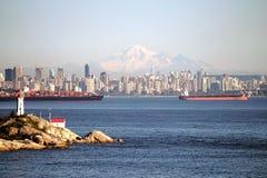 Vancôver do centro, Columbia Britânica em Canadá Imagens de Stock Royalty Free