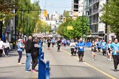 Vanc?ver maratona 5 de maio de 2019 imagem de stock royalty free