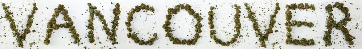 Vancôver soletrou com marijuana Imagem de Stock Royalty Free