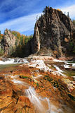 Vanchin waterfalls. Near Vladivostok, Russia, Far-East. Autumn royalty free stock image