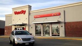 Vancity bank in Pitt Meadows Canada. Front door of Vancity bank  in Pitt Meadows Canada stock video footage