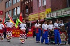 Vancouver's ståtar det kinesiska nya året Arkivbilder