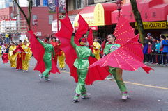 Vancouver's ståtar det kinesiska nya året Arkivfoto