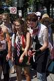 vancouver 2008 går zombien Arkivbild