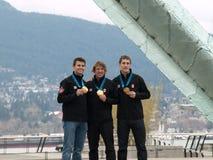 Vancouver 2010 - het Schaatsen van de Snelheid de Achtervolging van het Team van Mensen Stock Foto's
