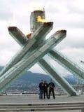 Vancouver 2010 - het Schaatsen van de Snelheid de Achtervolging van het Team van Mensen Royalty-vrije Stock Fotografie