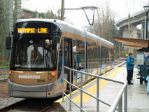 Vancouver 2010 - Olympic Line Stock Photo