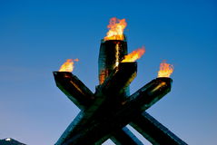 Vancouver 2010 Olympic Winter Games. The Olympic Cauldron in Vancouver for the 2010 Olympic and Paralympic Games royalty free stock photo