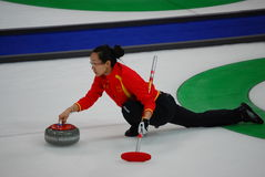 Vancouver 2010 Olympic Winter Games. An Olympic curling match (women's) between China and Canada, held at Vancouver Olympic Centre at the 2010 Vancouver Olympic royalty free stock photos