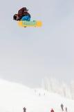 VANCOUVER - 28 DE MARZO: Comp de la snowboard de Quiksilver Foto de archivo libre de regalías