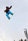 VANCOUVER - 28 DE MARZO: Comp de la snowboard de Quiksilver Fotos de archivo libres de regalías