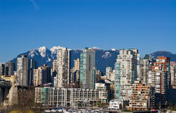 Vancouver. Downtown Vancouver in sunny winter day stock images