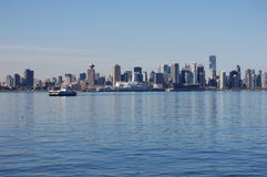 Vancouver. Skyline and the seabus as seen from North Stock Image