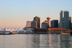 Vancouver-Abend, Kanada Lizenzfreie Stockbilder