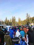 Vancouver ad ovest, montagna di Cypress, Canada - 1° gennaio 2018: A immagine stock