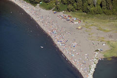 Vancouver Aerial - Wreck Beach in Vancouver Stock Images